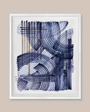 "Grand Image Home ""Blue Weave 2"" Digital Art Print by Victoria Neiman"